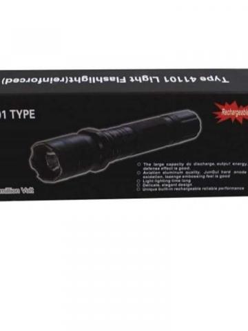 All Metal Stun Gun 4.9m Volt with LED Flashlight / Black